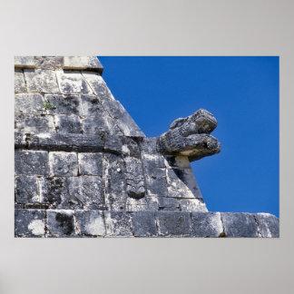 Ciérrese para arriba de las piedras que hacen un m póster