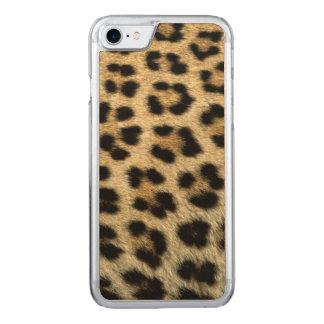 Ciérrese para arriba de los puntos del leopardo, funda para iPhone 8/7 de carved