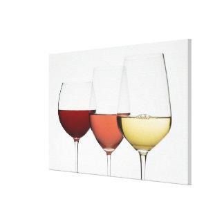 Ciérrese para arriba de los vidrios de diversos impresión en lienzo