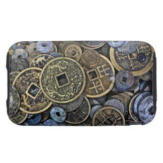 Ciérrese para arriba de monedas vietnamitas carcasa though para iPhone 3