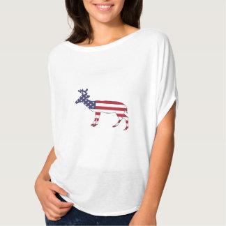 """Ciervos """"bandera americana """" camiseta"""