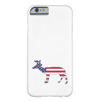 "Ciervos ""bandera americana "" funda barely there iPhone 6"