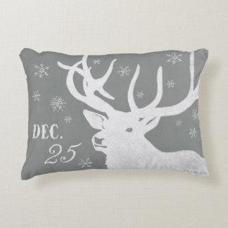Ciervos blancos hermosos del navidad de la tiza en