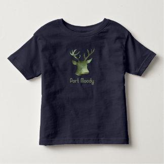 Ciervos cambiantes del camuflaje del puerto camiseta de bebé