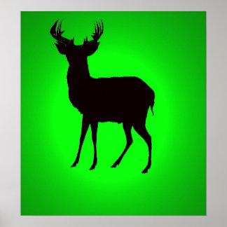 ciervos con imagen de fondo verde en los posters