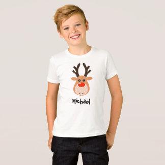 Ciervos con las camisetas del muchacho conocido