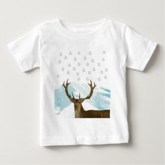 Ciervos cortados del art déco con navidad de los camiseta para bebé