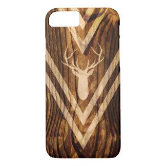 Ciervos de Boho en la madera rústica Funda iPhone 7