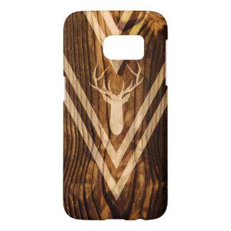 Ciervos de Boho en la madera rústica Funda Samsung Galaxy S7