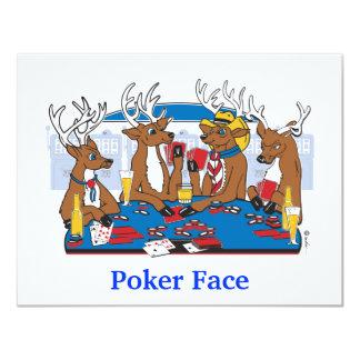 Ciervos de la cara de póker invitación 10,8 x 13,9 cm
