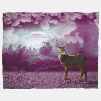 Ciervos de la fantasía en color de malva manta polar