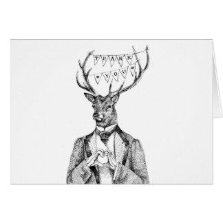 Ciervos del de agradecimiento tarjeta de felicitación