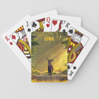 Ciervos del dólar de IOWA Baraja De Cartas