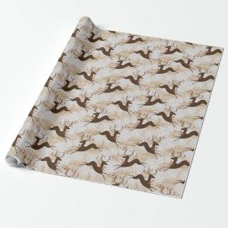 Ciervos del navidad papel de regalo