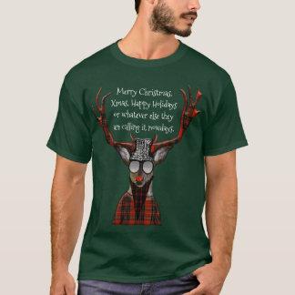 Ciervos divertidos del inconformista de las camiseta