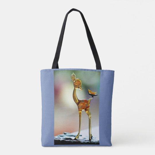 Ciervos en luz del día bolsa de tela