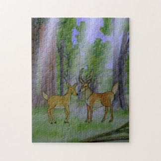 Ciervos en rompecabezas del bosque