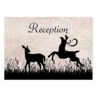 Ciervos en tarjeta de la recepción nupcial del pra tarjetas de visita grandes