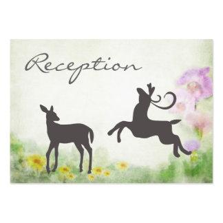 Ciervos en tarjeta de la recepción nupcial del tarjetas de visita grandes