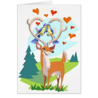 Ciervos felices del aniversario tarjeta de felicitación