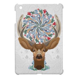 Ciervos lindos mágicos del bosque con símbolo de