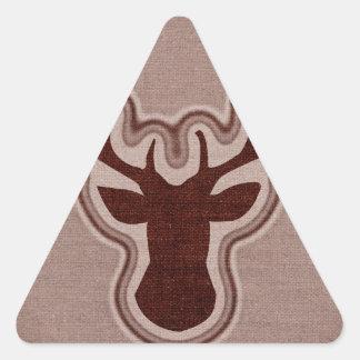 Ciervos que brillan intensamente de la lona pegatina triangular