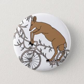 Ciervos que montan su bici de la asta chapa redonda de 5 cm