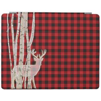 Ciervos rústicos de la tela escocesa del búfalo y cover de iPad
