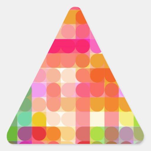 Cifra reconstruida calcomanías de triangulos