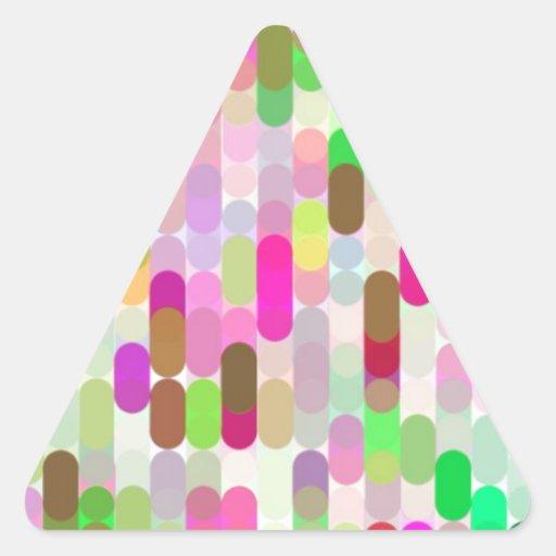 Cifra reconstruida pegatinas trianguladas personalizadas