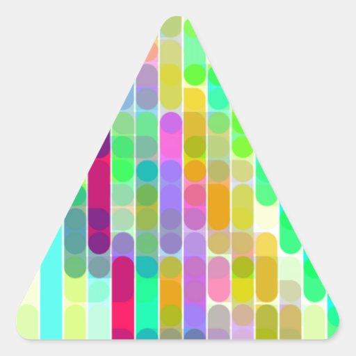 Cifra reconstruida calcomanías trianguloes