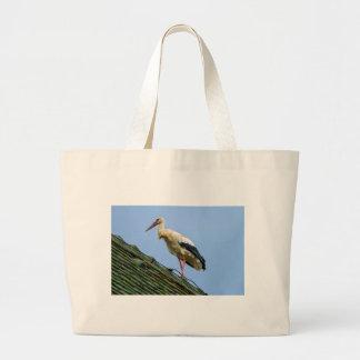 Cigüeña blanca europea, ciconia bolso de tela grande
