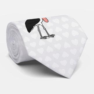 Cigüeña de marabú de Birdorable Corbatas Personalizadas