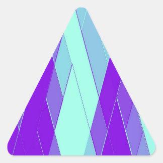 Cimas reconstruidas pegatinas triangulo personalizadas