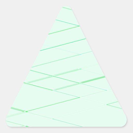 Cimas reconstruidas calcomanías trianguloes personalizadas