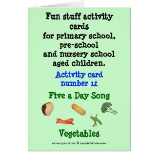 Cinco al día - verduras tarjeta de felicitación