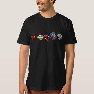 Cinco caras de la diversión camiseta