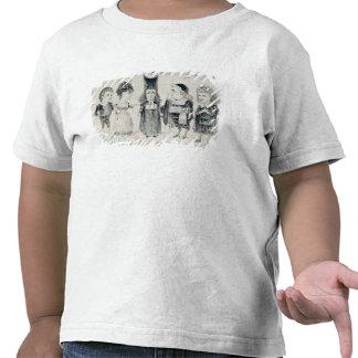 Cinco caricaturas del molde de un francés camisetas