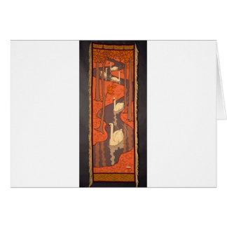 Cinco cisnes de Otto Eckmann Tarjeta De Felicitación