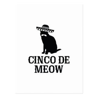 Cinco De Meow Postal