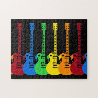 Cinco guitarras eléctricas puzzle