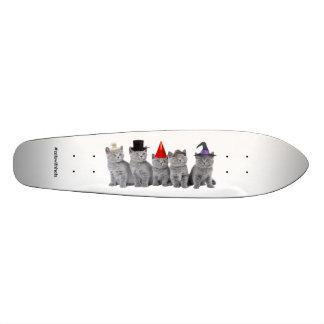 Cinco Kittencats con los gorras (Longboard) Patinetas Personalizadas