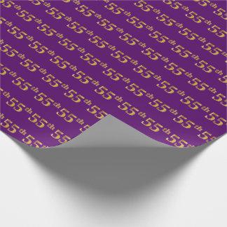 Cincuenta-Quinto) acontecimiento púrpura, falso Papel De Regalo