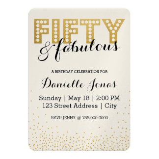 Cincuenta y fabuloso invitación 12,7 x 17,8 cm