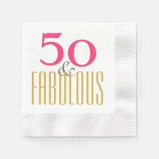 Cincuenta y fabuloso o personalizar a la edad servilleta de papel