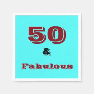 Cincuenta y servilleta fabulosa de la celebración servilletas desechables