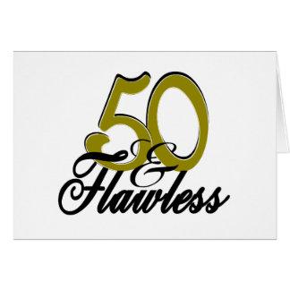 Cincuenta y sin defectos tarjeta de felicitación