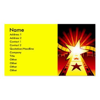 CINEMA7, nombre, dirección 1, dirección 2, contact Tarjetas De Visita