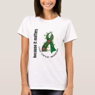 Cinta 3 de la flor del cáncer de hígado camiseta
