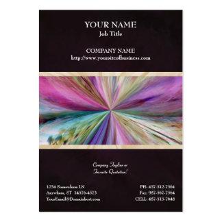Cinta abstracta colorida del collage tarjetas de visita